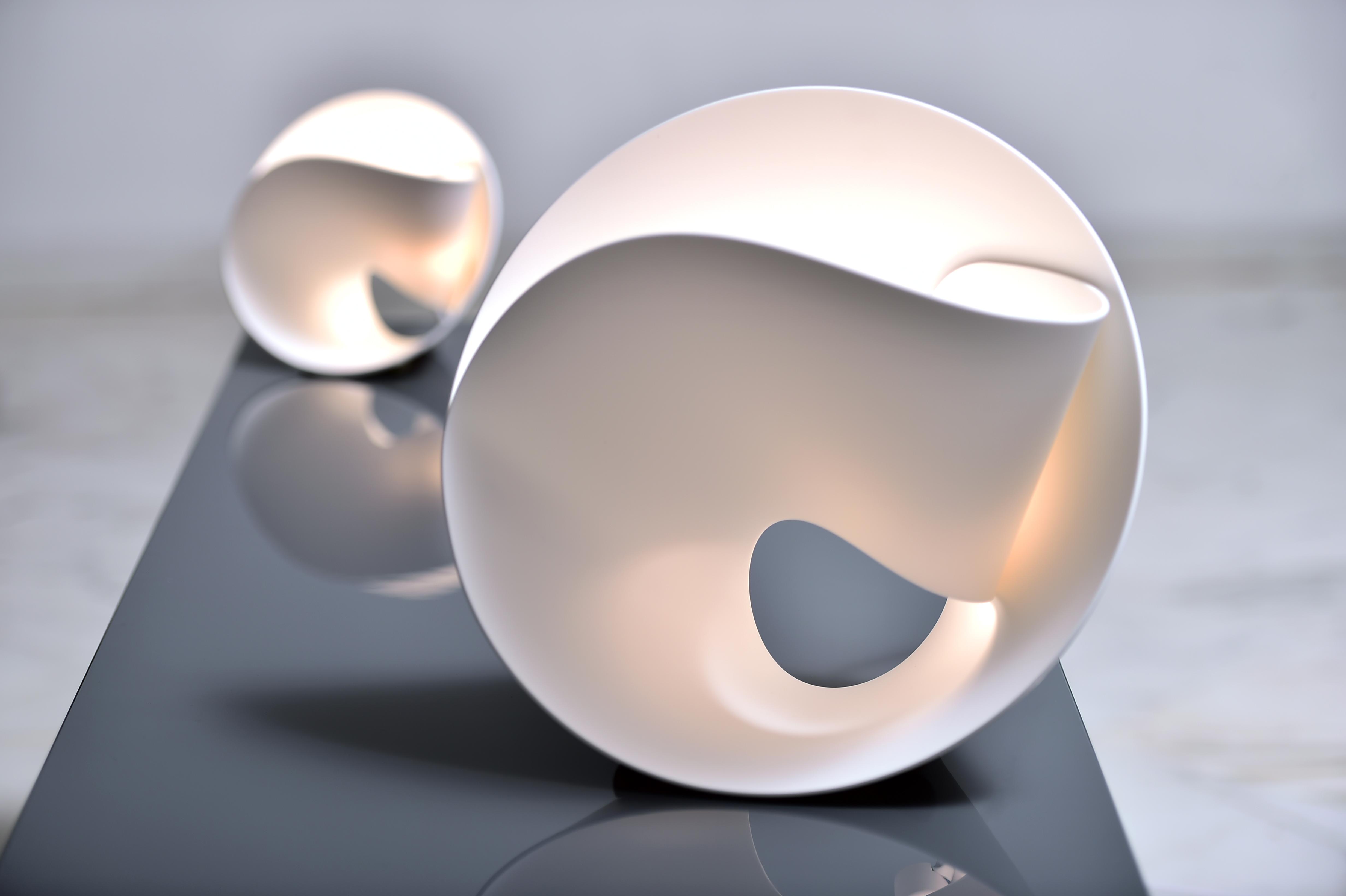 hi macs presents the tulip lamp by pierre cabrera hi macs. Black Bedroom Furniture Sets. Home Design Ideas
