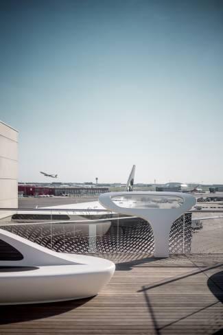 frankfurt airport s new open air deck hi macs. Black Bedroom Furniture Sets. Home Design Ideas