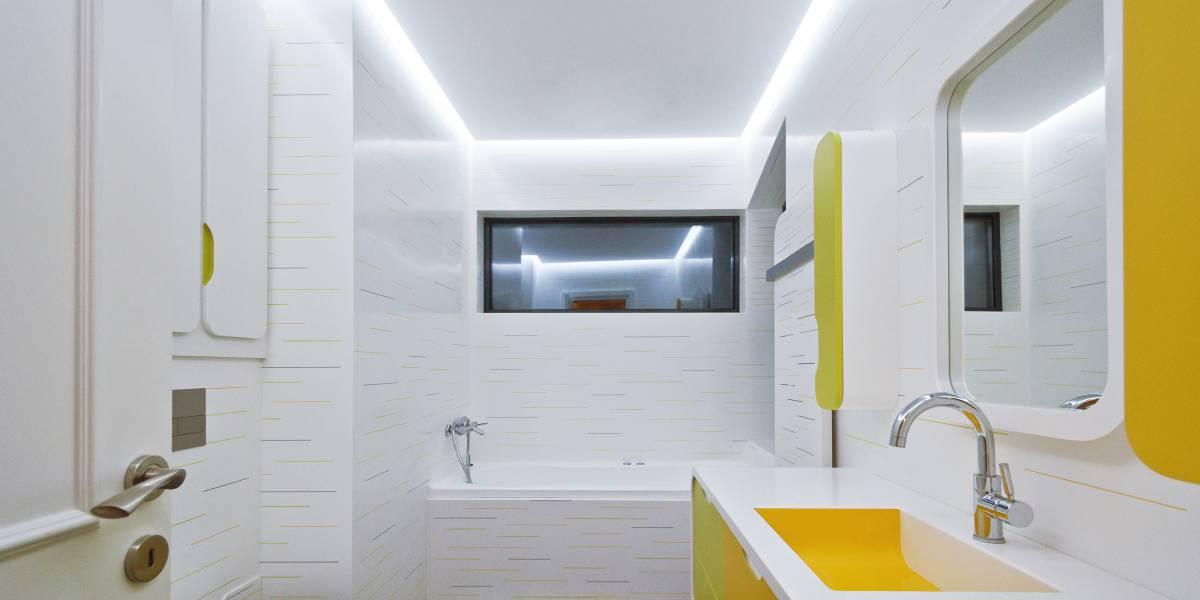 Une salle-de-bains pour enfants colorée et pétillante   HI-MACS®
