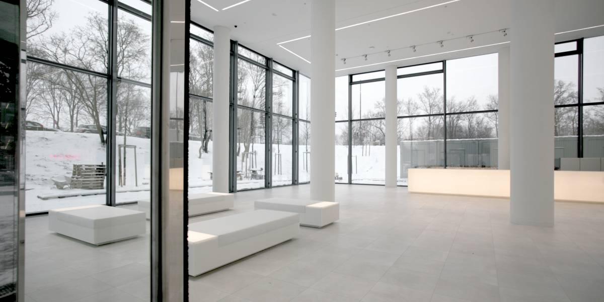 hi macs lichtobjekt in der osram firmenzentrale in. Black Bedroom Furniture Sets. Home Design Ideas